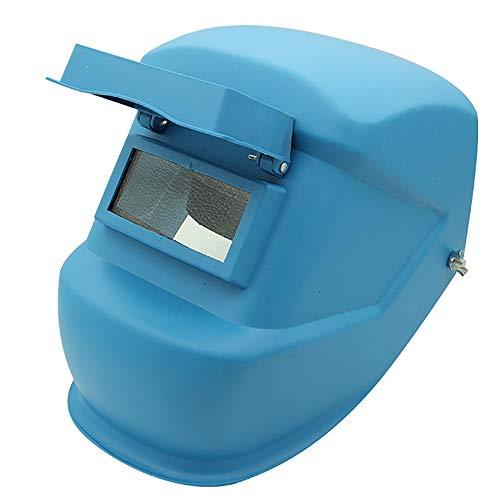 Schweißmaske Schweißschutzmaske - Kopfmontage Schwarz Blau Schweißmaske Argon Arc Welding Cap - @ (Color : Blue)