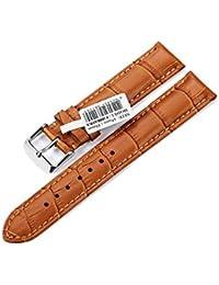 CHIMAERA Genuine Calf Leather Croco Reloj Correa Unisex 18mm 19mm 20mm 21mm 22mm Banda de Reemplazo Hebilla de Acero (Opción de 9 colores) Honey Brown