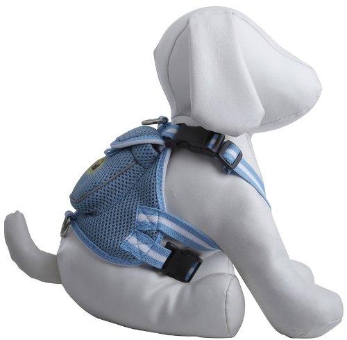 Petlife Hundegeschirr mit Tasche, Large, blau -