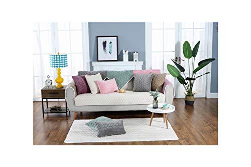 HGblossom Sofa-Abdeckung waschbar Abnehmbarer Handtuch Armlehne Couch Abdeckungen Slipcovers Couch Hund Haustiere Single/Zwei/DREI Seater, Weiß, 90x90cm