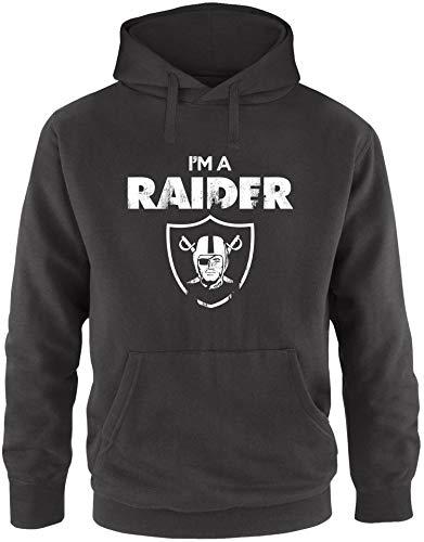 EZYshirt® I´m a Raider | American Football Herren Hoodie | Herren Kapuzenpullover | Herren Pullover (Niners Sweatshirt)