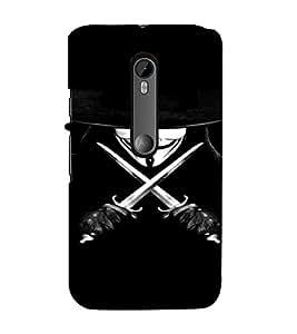 PrintVisa Vendetta Design 3D Hard Polycarbonate Designer Back Case Cover for Motorola Moto G3