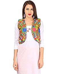 Vastraa Fusion Women's Cotton Embroidered Waistcoat