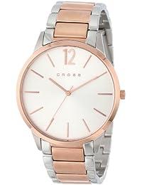 Cross CR8003-33 - Reloj analógico para hombre, correa de acero inoxidable color plateado