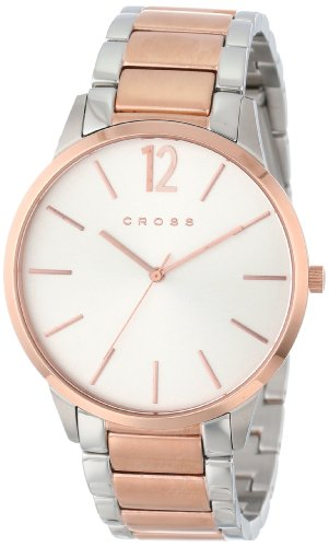 cross-franklin-mens-quartz-watch-with-white-dial-analogue-display-and-rose-gold-stainless-steel-plat