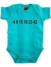 LOST 4 8 15 16 23 Zahlen Babybody 56 - 80 div. Farben