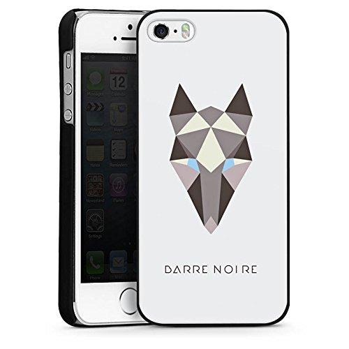 Apple iPhone 5s Housse Étui Protection Coque Renard Motif Motif CasDur noir
