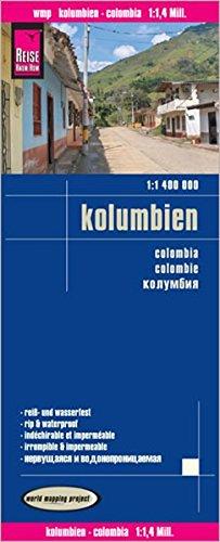 Landkarte Kolumbien, Reise Know-How  (1:1 400 000)