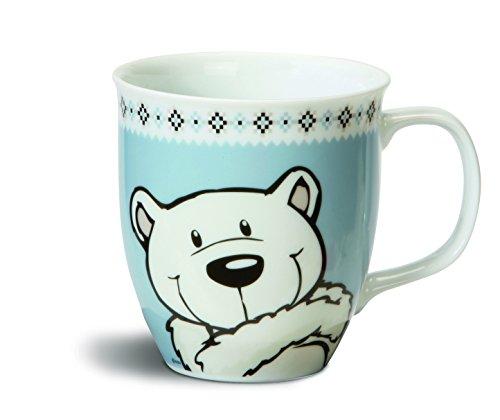 NICI 34774 tasse motif ours blanc  bleu ø 9,5 x 10 cm