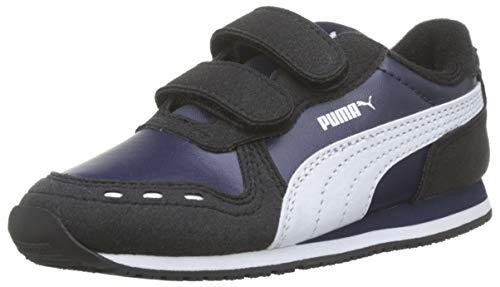 Puma Cabana Racer Sl V Inf, Unisex-Kinder Sneakers, Blau (Peacoat-Puma Black-Puma White 75), 24 EU