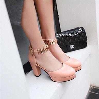 LvYuan Damen-Sandalen-Büro Kleid Party & Festivität-Lackleder-Blockabsatz-Andere-Schwarz Rosa Weiß Pink