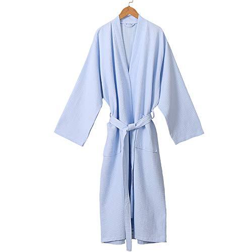 DUJUN Señoras Robe Toweling algodón Bata Albornoz