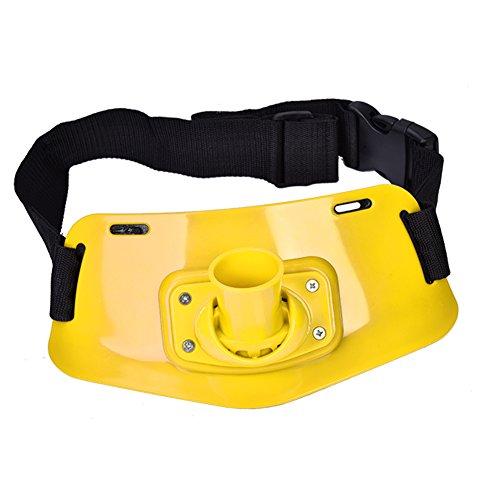 Angelrute Gürtel, Heavy Duty Aluminium Angeln Kampfboot Rock Angelrute Pole Halter Gürtel Fisch Bekämpfen Zubehör(Gelb) - Für Fisch-rod-halter Boot
