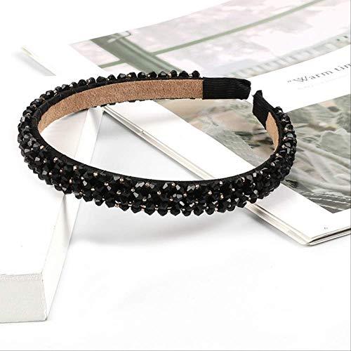 Pmli, cerchietto per capelli con strass luccicanti, accessorio per capelli per donne, fascia per capelli nera