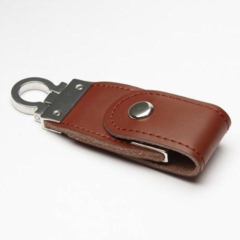 Funny Design USB Stick by aricona – Form Schlüsselanhänger (Leder) 4 GB, schneller USB 2.0/1.1, coole, lustige Figur Speichersticks mit Plug&Play, originelle, witzige Motiv Sticks, das besondere Geschenk