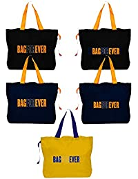 Blendmix Bagforever Shopping Bag Reusable Grocery Bag Foldable Polyster Tote Long Handle Washable Large Size Heavy... - B07GCK9S1S