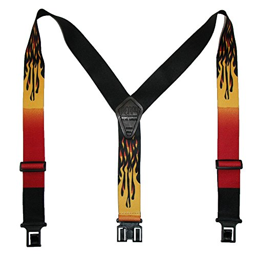 Perry Braces Men's Elastic Hook End Flame Braces (Tall Available)