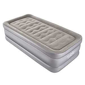 Inflatable Bed Sable Single Size Air Mattress With Built