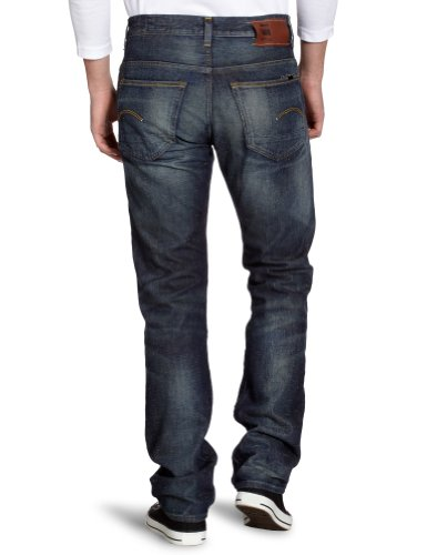 G-Star Attacc Low Straight - Jeans - Homme Bleu (Medium Aged 3949)