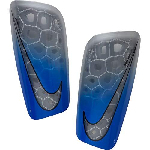 Nike Erwachsene Mercurial Lite Schienbeinschoner, Metallic Silver, L (Nike Schienbeinschoner Mercurial)