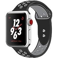 Straper Für Apple Watch Armband 38mm 40mm 42mm 44mm, Qualität Weich Silikon Sport Ersatzarmband Uhrenarmbänder für iWatch Series 4 Series 3 Series 2 Series 1 Nike+, Edition Herren Damen Mädchen