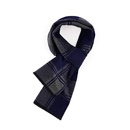 LeKuni Schal Herren Damen Kariert Streifen Gestreift Winter Herbst Warmer Kashmir-Imitat Plaid Schals Weicher Modeschal Modischer(GEZILAN5)