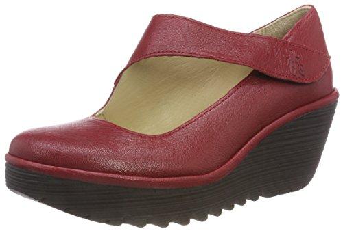Fly London Yasi682fly, Zapatos de tacón con Punta Cerrada para Mujer, Rojo (Rio Red 039), 36 EU