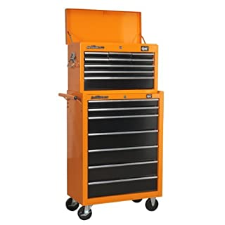DJM 9 Drawer Top Box Chest & 7 Drawer Roller Cabinet Roll Cab Tool Box by DJM Direct