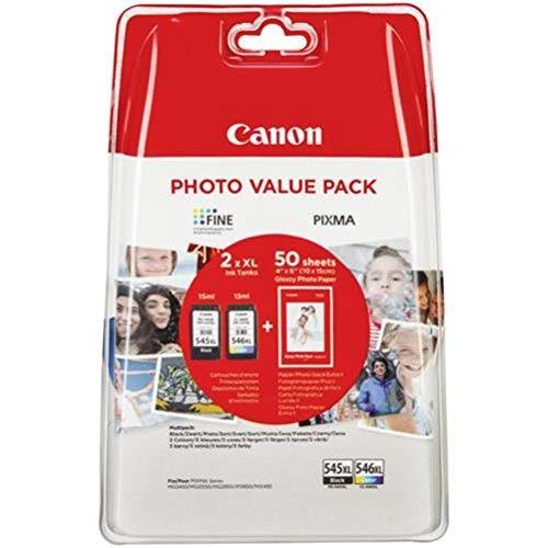 Canon PG-545XL/CL546XL Cartuccia Originale Getto d'Inchiostro ad Alta Resa, 2 Pezzi, Nero + Colore