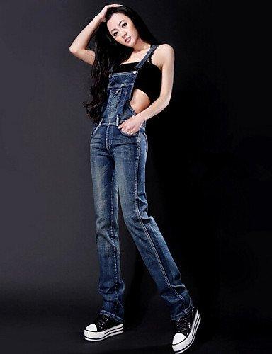 GSP-Pantalon Aux femmes Moulant / Décontracté Toile de jean / Polyester blue-m