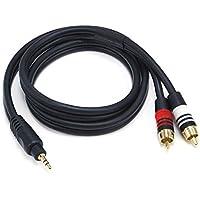 Monoprice 3.5mm/2RCA, 0.9144 m 0.9144m 3.5mm 2 x RCA Negro cable de audio - Cables de audio (0.9144 m, 3.5mm, Macho, 2 x RCA, Macho, 0,9144 m, Negro)