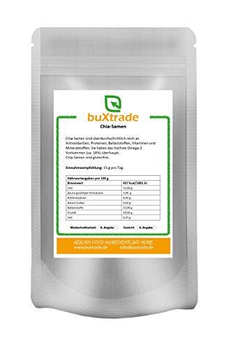 1 kg Chia Samen Glutenfrei Salvia Hispanica Chia-Samen Proteine Superfoods Omega 3 Fitness Sport