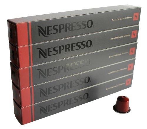 Nespresso Capsulas rojo - 50x Decaffeinato Intenso - Original Nestlé - Espresso cafe - Surtido