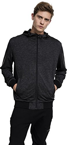 Urban Classics Herren Sportjacke Mens Light Training Jacket Mehrfarbig (Charcoal/Black 1166)