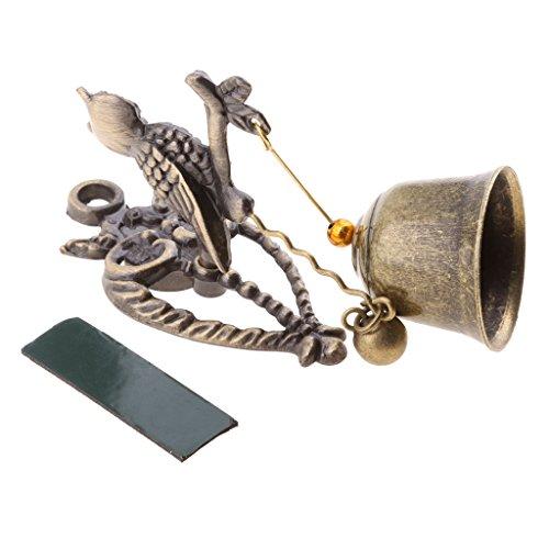 Blesiya Windspiel Klang Metall Glocken Wind Spiel Klangspiel Haustür Garten Auto Hängen Deko - Bronze Eule