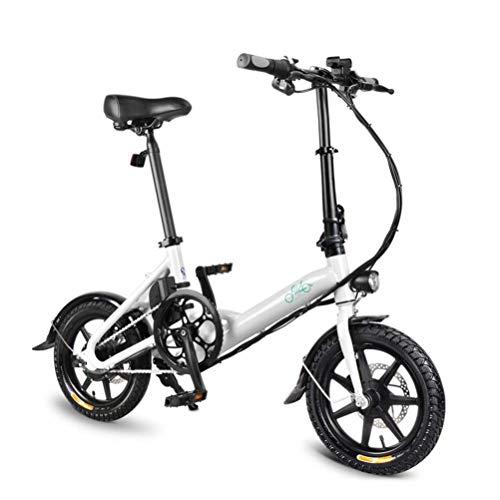 Crazywind Unisex Elettrico Bicicletta Pieghevole Pieghevole Bicicletta Doppio Freno a...