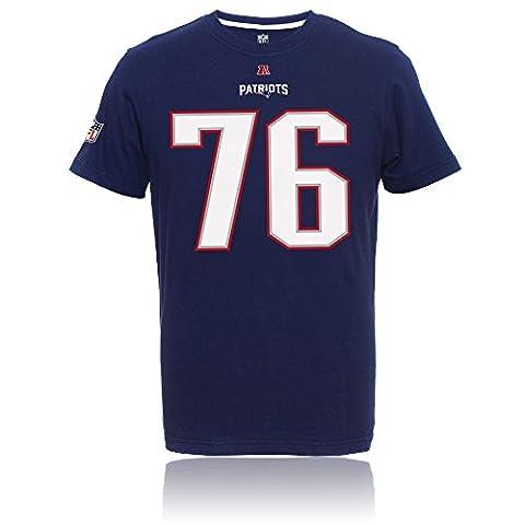 NFL New England Patriots PLAYER II SEBASTIAN VOLLMER #76 T-Shirt Maillot ny, S