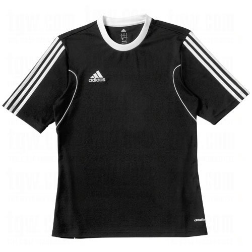 Adidas climalite squadra 13a maniche corte t-shirt, uomo, black, white, xl