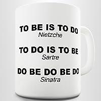 Nietzsche Sartre Sinatra Funny Zitat Kaffee Tasse