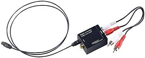 auvisio Digital Analog Wandler: Audio-Konverter Digital (Toslink/Koaxial) zu Analog (Cinch) mit Kabel (Spdif Cinch)