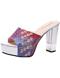 Amazon.it  sandali gioiello blu - 8 - 12 cm   Scarpe da donna ... a3e55129903