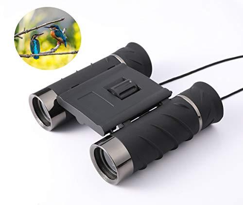 Mini binocolo militare 10 x 22 per adulti, compatto, leggero, ad alta potenza, per bird watching, viaggi, concerti, teatro, campeggio, escursionismo