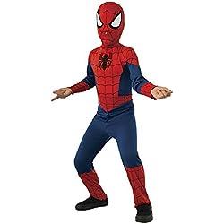 Spiderman Disfraz ultimate classic infantil, talla M (Rubie's Spain 880539-M)