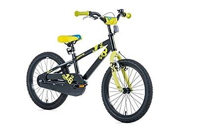 """18"""" Zoll Aluminium Fahrrad LEADER FOX Kinderrad Snake Boy MTB black schwarz"""