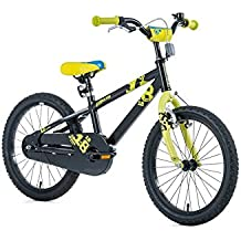 '18pulgadas aluminio bicicleta Leader Fox Niños Cilindro de Snake Boy MTB Black Negro