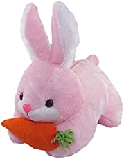 Tickles Pink Rabbit With Carrot Stuffed Soft Plush Toy 26 Cm