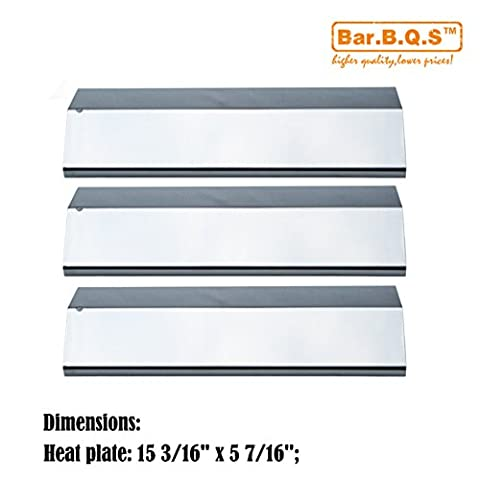 Bar.b.q.s 93031 (3-pack) Stainless Steel Heat Plate, Heat Shield, Heat