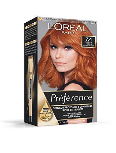 L'Oréal Paris Préférence Coloration Permanente 7.4 Dublin Mango Cuivré Intense