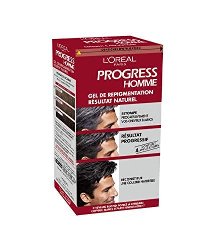 L'Oréal Paris Progress Homme Teinture - Coloration Progressive - Cheveux Blancs ou Gris