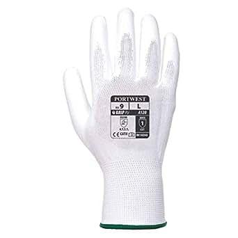 Portwest A120der PU-Handschuh La Palma, X-Large, weiß